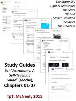 """Study Guides for """"Astronomy: A Self-Teaching Guide"""" (Moche): Ch. 01-07"""