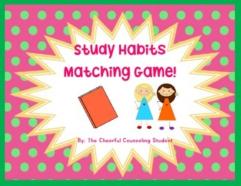 Study Habits Matching Card Game