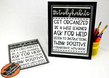 Study Habits Posters
