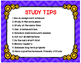 Study Habits Posters  that can Improve Grades and Performance in Purple