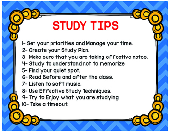 Study Habits that can Improve Grades and Performance  in Blue