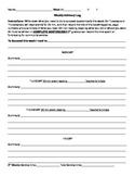 Study Hall / Advisory student literacy log