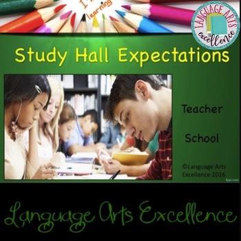 Study Hall Expectations Powerpoint Presentation