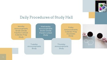Study Hall Procedures and Games for First Day