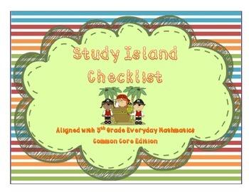 Study Island Checklist for 5th Grade