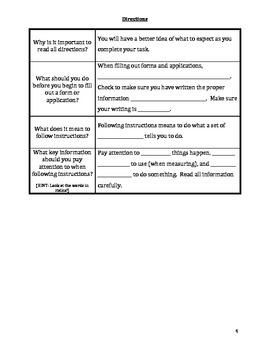 Study Island: Directions Two Column Notes