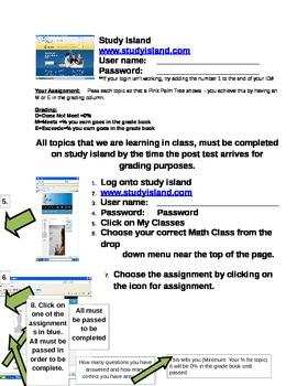 Study Island Student Directions