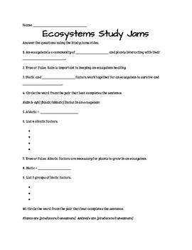 Study Jams BUNDLE: Ecosystems