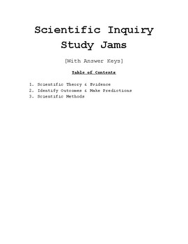 Study Jams BUNDLE: Scientific Theory