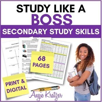 Study Like a BOSS {Secondary Study Skills BUNDLE}