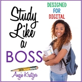 Study Like a BOSS {PDF and Google Slides for Distance Learning}