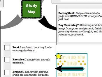 Study Map with Study Skills/Reward List