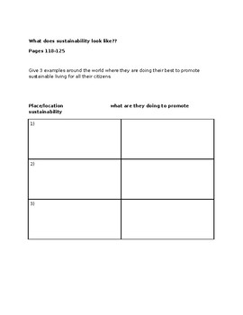 Study Notes on Sustainability for Geography Grade 8- Ontario