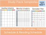 Study Pack Templates - FREEBIE!