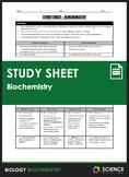 Study Sheet - Biochemistry