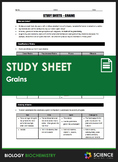 Study Sheet - Grains