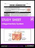 Study Sheet - Integumentary System (HS-LS1)
