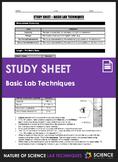 Study Sheet - Lab Techniques