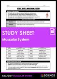 Study Sheet - Muscular System (HS-LS1)