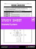 Study Sheet - Skeletal System (HS-LS1)