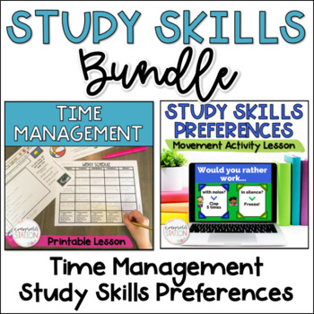Study Skills 2-lesson BUNDLE: Time Management + Study Preferences