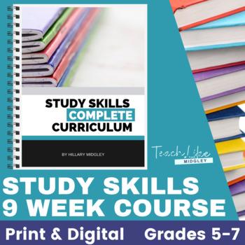 Study Skills 9 Week Course Curriculum by Midgley