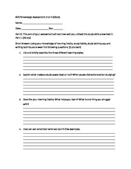 Study Skills Assessment pt 2.