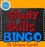 Updated! Study Skills Bingo Game