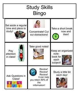 Study Skills Bingo Grades k-2