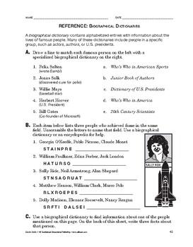 Study Skills: Biographical Dictionaries