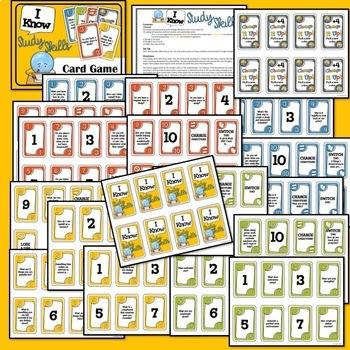 Study Skills Card Game