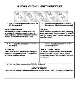 Study Skills Cheat Sheet