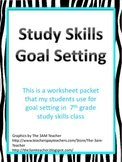 Study Skills Class Goal Setting Packet