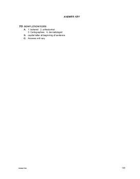 Study Skills: Completion Tests