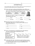 Study Skills: Dictionary Skills