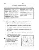 Study Skills: Dictionary Skills Practice