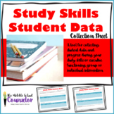 Study Skills/Executive Functioning Student Data Collection Sheet