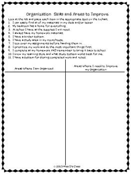 Study Skills Graphic Organizers: Organization Edition