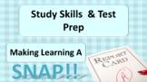 Study Skills Habits Test-taking Assessment Strategies Lesson w 20 Video Links