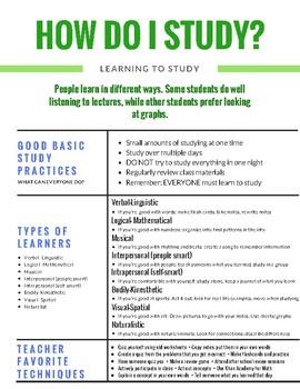 Study Skills Handout