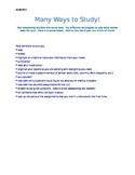 Study Skills Handout for Binder