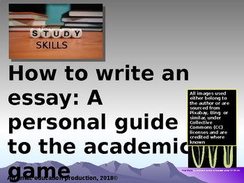 Study Skills: How to write and reference an academic essay