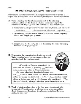 Study Skills: Improving Understanding: Recognizing Sequence