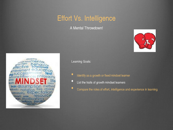Study Skills - Lesson 4 - Effort vs. Intelligence