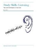 Study Skills: Listening