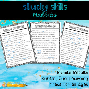 Study Skills Mad Libs