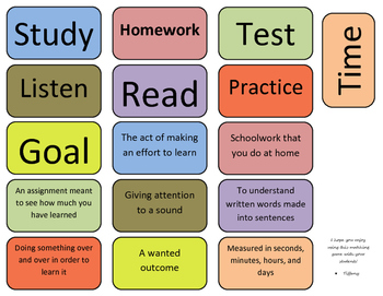 Study Skills Matching