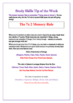 Study Skills: Maximize Memory Efficiency