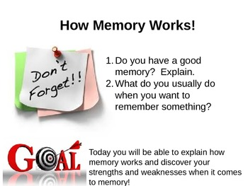 Study-Skills Mini-lesson:  How Memory Works!