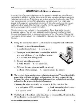 Study Skills: Nonbook Materials